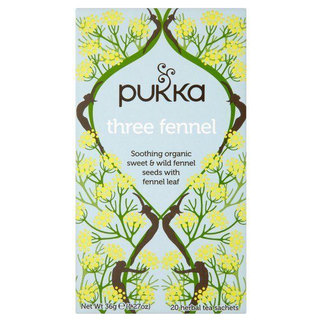 Pukka Organic Three Fennel Tea Bags 20 per pack from Ocado