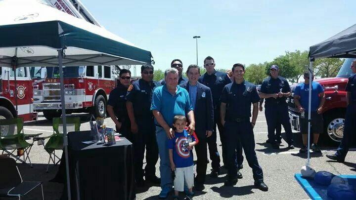 Joseph Dorn and Matthew Lovato Dorn with the Albuquerque Fire Department