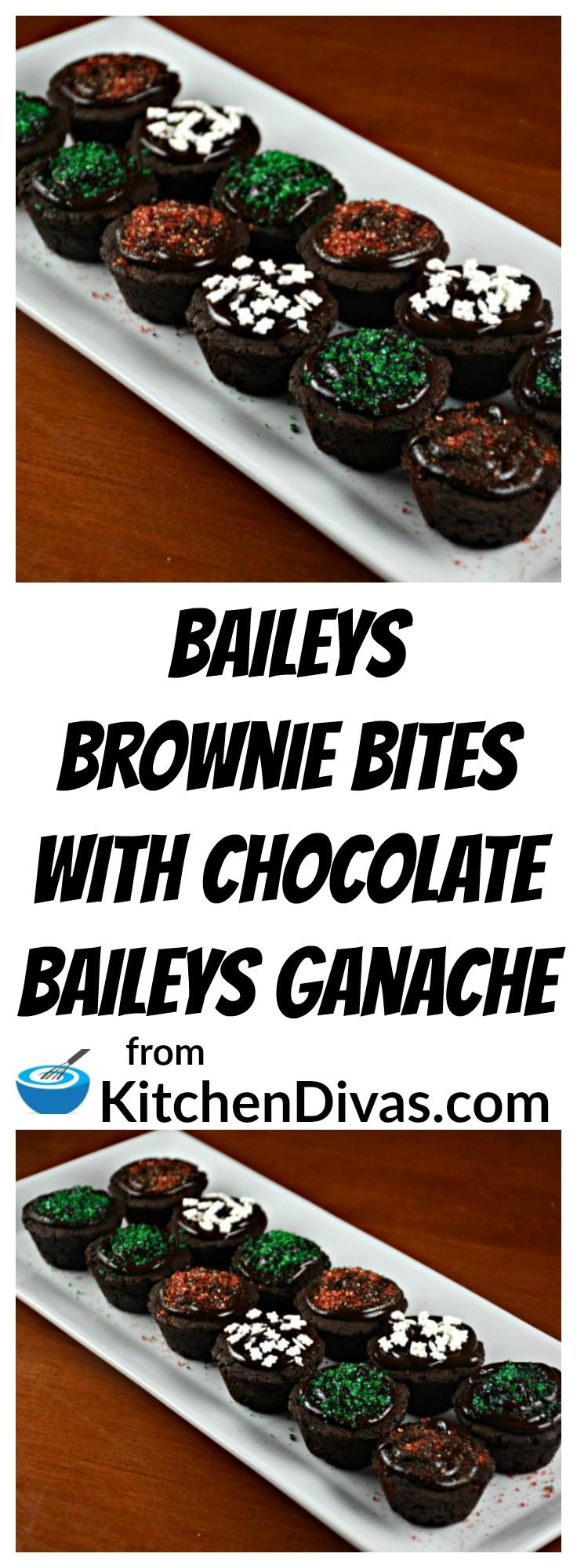 These Baileys Brownie Bites with Chocolate Baileys Ganache are fabulous! Too fabulous actually! A perfect recipe to include for your holiday celebrations!