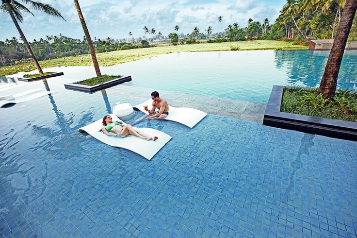 Taking in the sun on the Barcaloungers at the Infinity Pool #AlilaDiwaGoa #Luxury