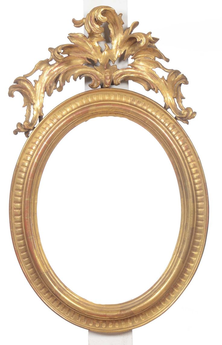 Cornice ovale con cimasa in legno intagliato e dorato,XIX secolo from Cambi Casa d'Este