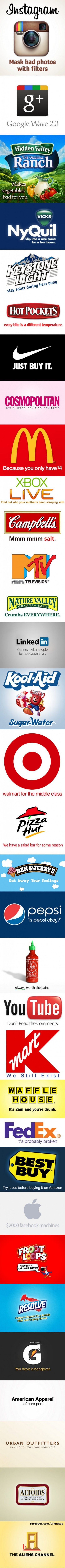 33 Honest Company Slogans,  Click the link to view today's funniest pictures!