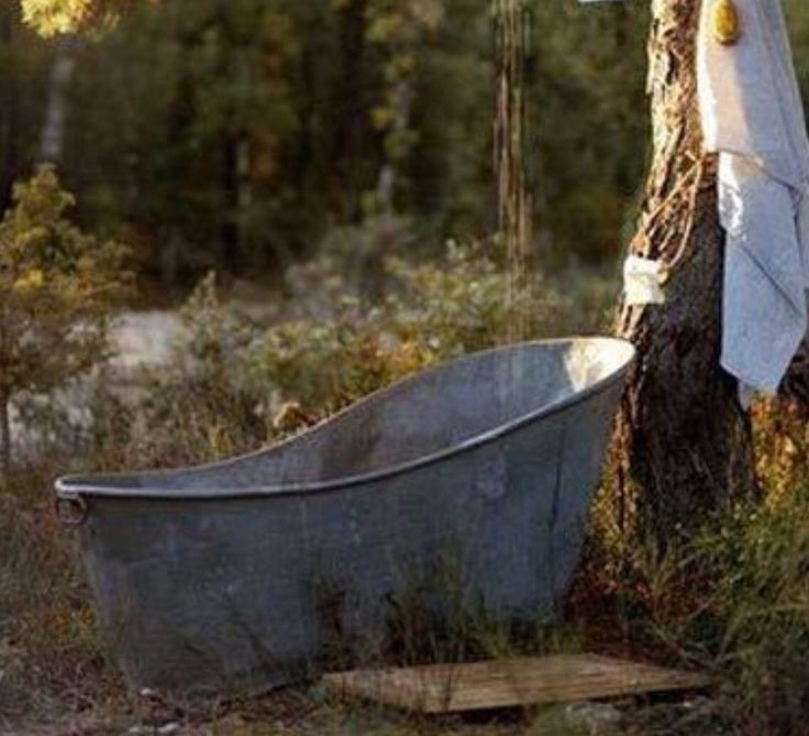 Vintage Galvanized Bathtub