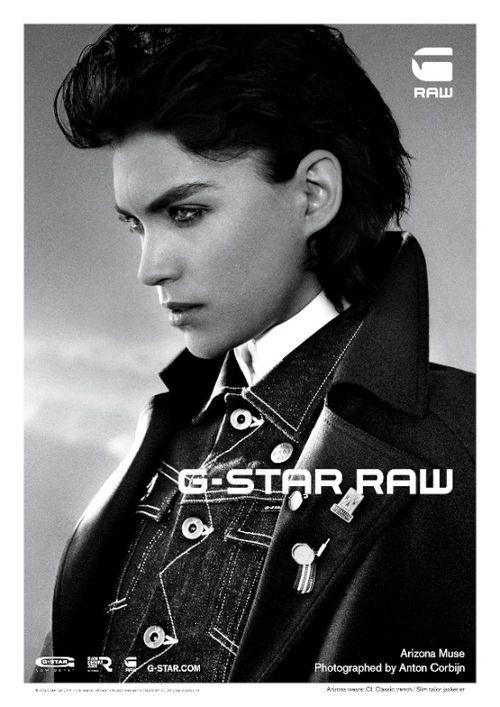 【画像 2/11】G-Star Raw、スーパーモデルのアリゾナ・ミューズを新広告に起用