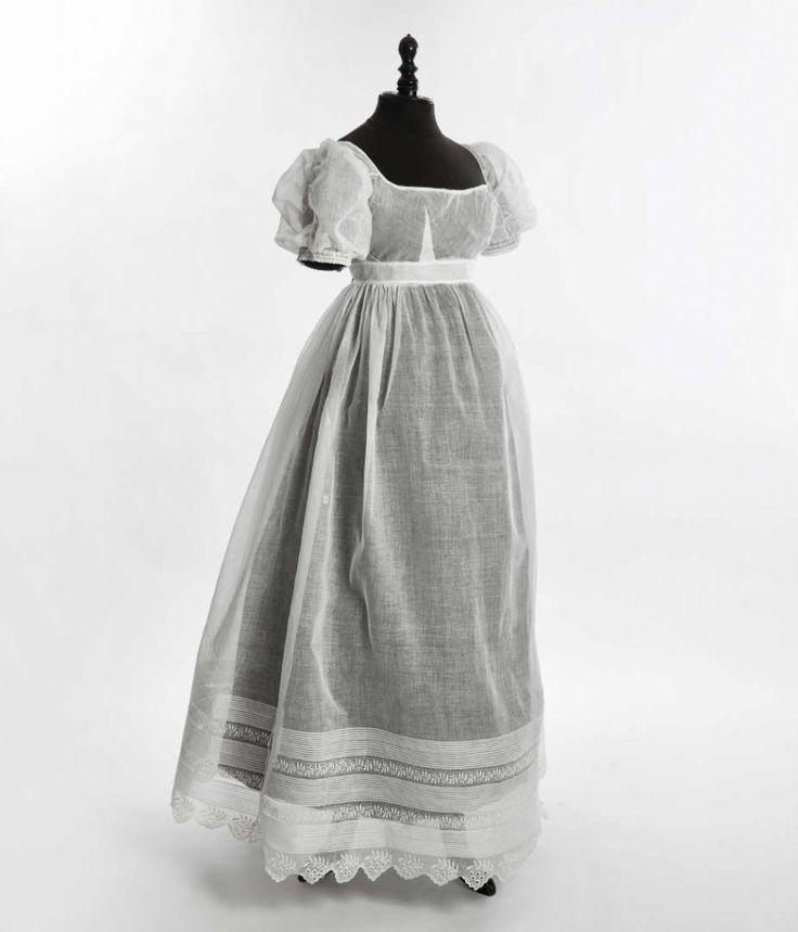 1815-20, Tageskleid aus Leinen?, Frankreich?