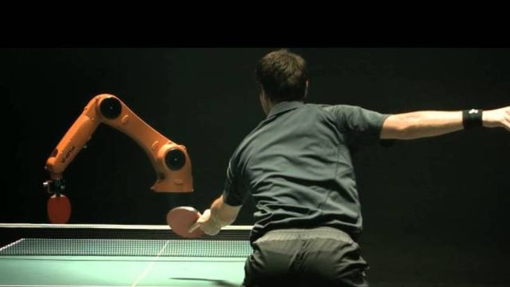 Watch a Pro Table Tennis Player Take Down a Robot Opponent
