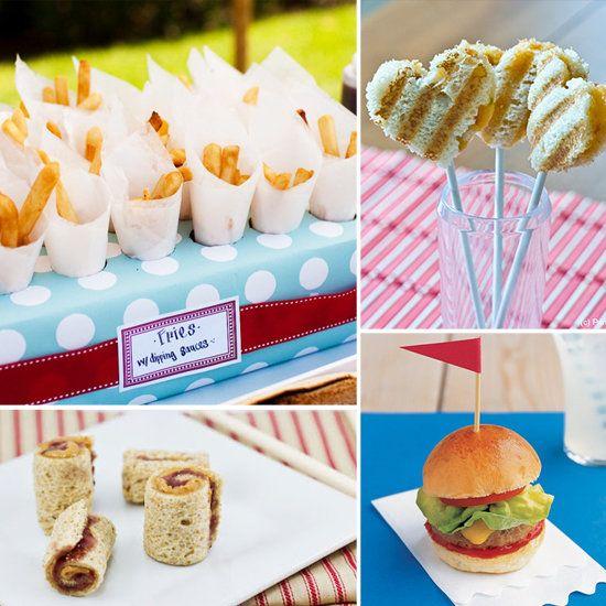 Best Wedding Finger Food: Kid's Tables & Favors On