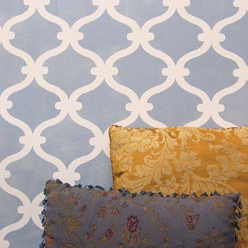 Probar las plantillas de pared en lugar de papel pintado caro! Plantillas de vanguardia ofrece las mejores plantillas para bricolaje
