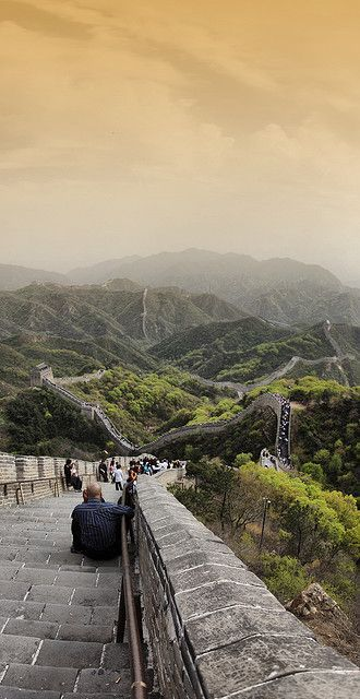 The Great Wall, China (great visual showing the magnitude)