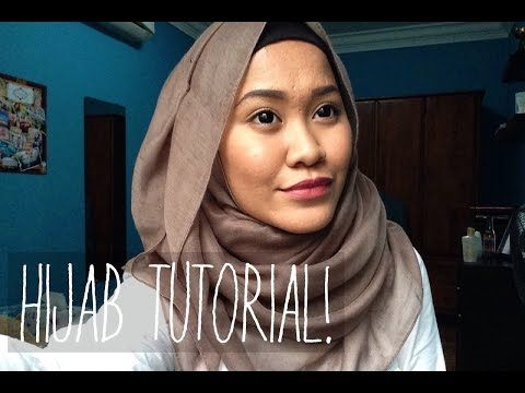 Hijab Tutorial: Maxi Viscose Shawl Part 2   Farah Amira - YouTube