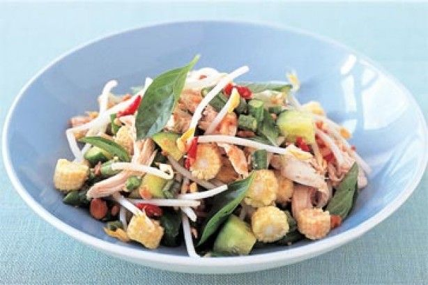 Ginger chicken and baby corn salad main image