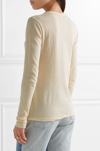 James Perse - Little Boy Tee Brushed-cotton Top - Cream - 4