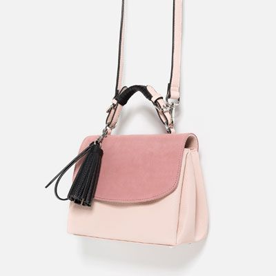 CONTRAST MATERIAL CITY BAG-Hand bags-BAGS-WOMAN | ZARA United States