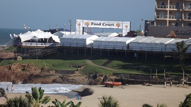 Tents all ready for the festivities for Africa Bike week 2013