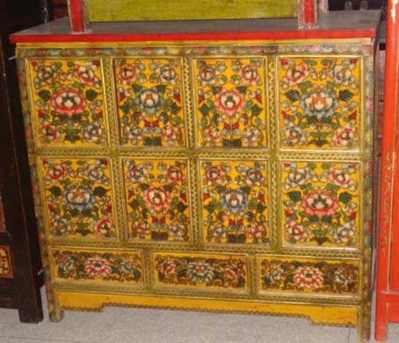 Chinese antique reproduction small cabinet with many for Oriental reproduction furniture