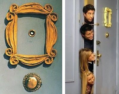 friends tv show yellow picture frame gold purple door prop reproduction ideas for home pinterest yellow picture frames tvs and peeps