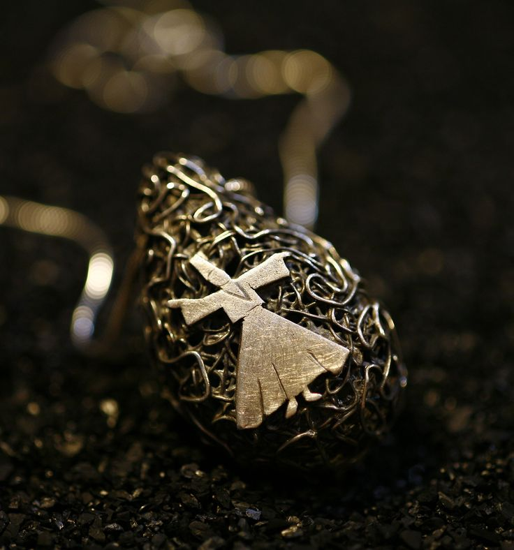 Fatma Nur Bayraktar – Sufi /  Metal Clay, pure silver, pendant, 2010
