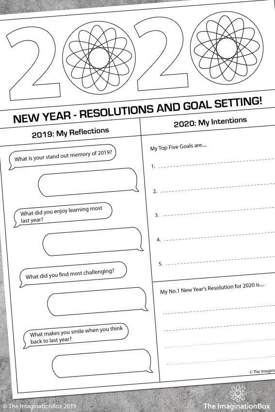 New Year 2020 Art And Goal Setting Activities For Kids Art Therapy Activities New Years Activities Therapy Activities