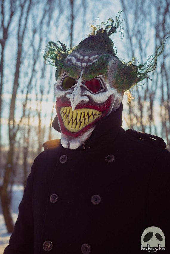Helloween horror Mask inspired by Joker от BabaykoCrafts на Etsy