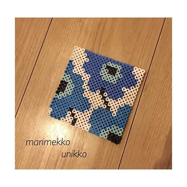 Marimekko coaster perler beads by noel.wow.0803