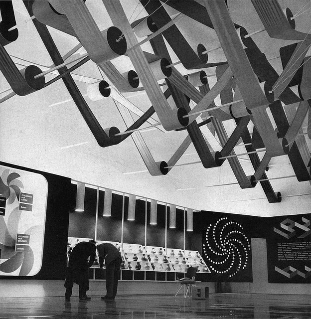 Exhibition Stand of ACNA company Fair of Milan 1955 by sandiv999, via Flickr