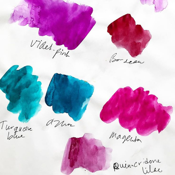 New Water Colours | 2018 | #turquoise #magenta #azur #bordeaux #violetpink #lilac