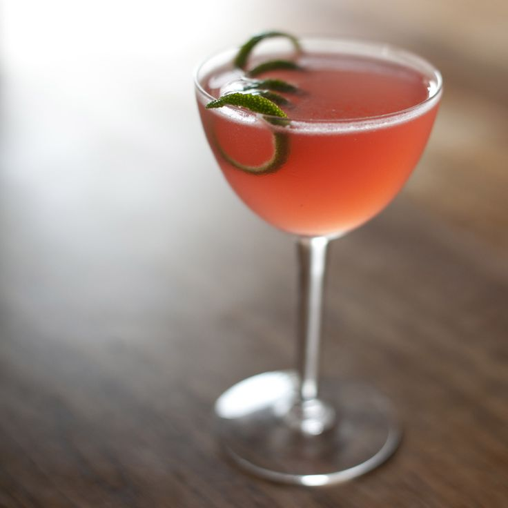 Cowgirl Cocktail:  from Brooks Reitz, FIG Restaurant, Charleston, South Carolina -  Ingredients 1½ ounces Cathead Vodka ¾ ounce Cointreau ½ ounce Campari ½ ounce grapefruit juice ½ ounce lime juice Lime rind for garnish