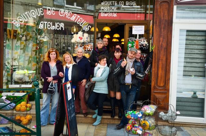 Rencontre entre artistes et amis de Sisteron à Com. à La Galrie et les Créateurs Artistes à Sisteron