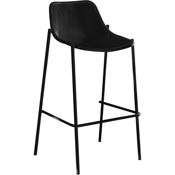 Emu Round High stool ($255) ❤ liked on Polyvore featuring home, furniture, stools, low stool, square bar stool, outside bar stools, round outdoor furniture ve outdoor bar stools