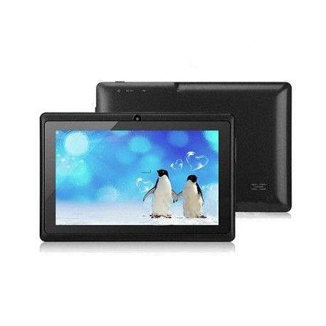 Q8 Android tablet, 7'' 800x480 pixels, quadcore processor, 512 mb ram, 4 gb opslag (uitbreidbaar tot 32gb), wifi, dual cam, speaker,microfoon, Android 4.2 Nederlands, alleen leverbaar in zwart.