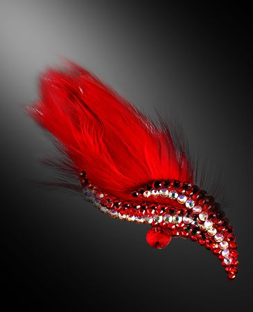 Zdenka Arko Light Siam Crystallized Hair Piece HA11004-30 - Rhinestone Jewelry | Dancesport Fashion @ DanceShopper.com