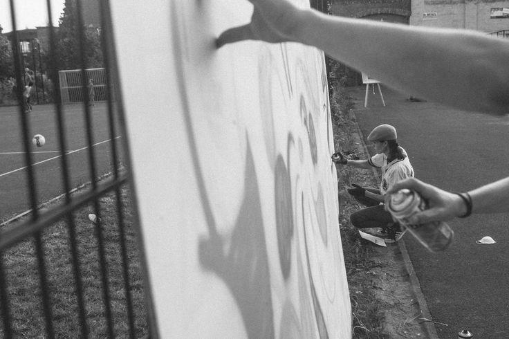 Graffiti - ErnteFunkFest - Buckau kommt zusammen