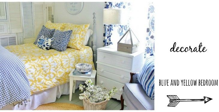 blue and yellow bedrooms | You are here: Home / THE HOUSE / Blue and Yellow Farmhouse Bedroom