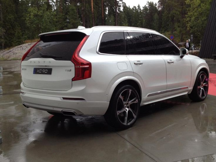 New 2016 Volvo XC90, logo flattened in re-launch.  Love it in White!! My favorite SUV!!! <3