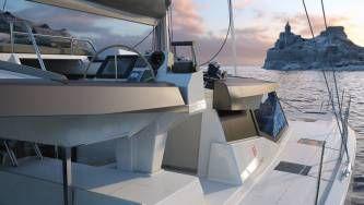 New 42 Fountaine Pajot sailing catamaran  - helm station