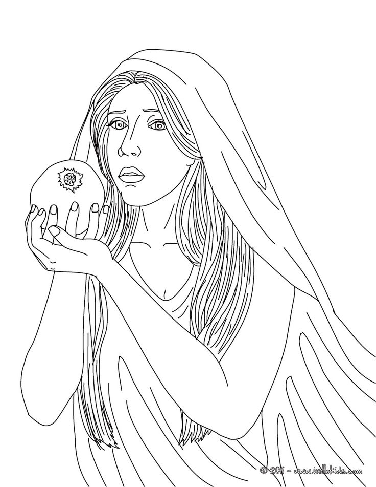 Greek goddesses coloring pages persephone the greek for Greek mythology coloring pages