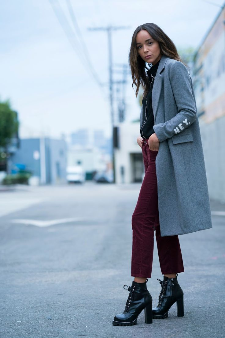 'Victory' Coat: Zoe Krassen . Corduroy Cropped Flares: J Brand .   Boots: Louis Vuitton. Shirt: Forever 21 .     I'm a big fan of a...