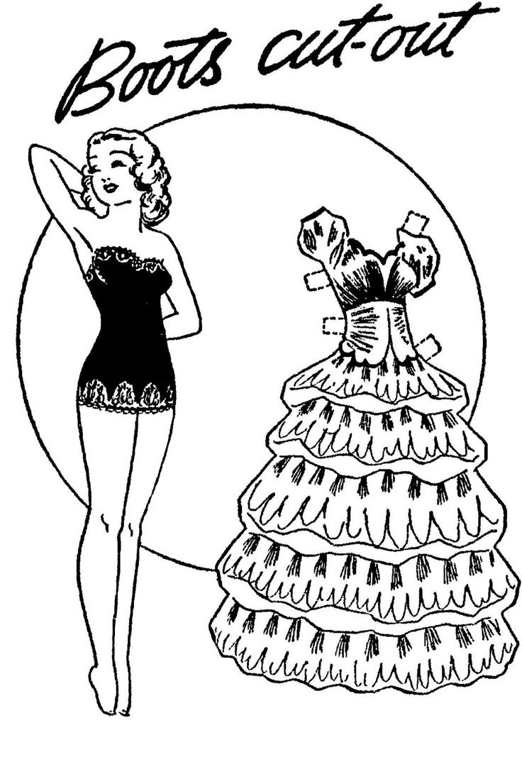 12-12-43 Boots paper doll / mostlypaperdolls.blogspot.com * 1500 free paper dolls Arielle Gabriel's The International Paper Doll Society #QuanYin5 Twitter QuanYin5 Linked In *
