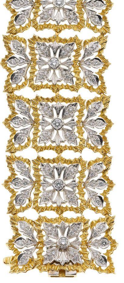 Buccellati Diamond, Gold Bracelet.