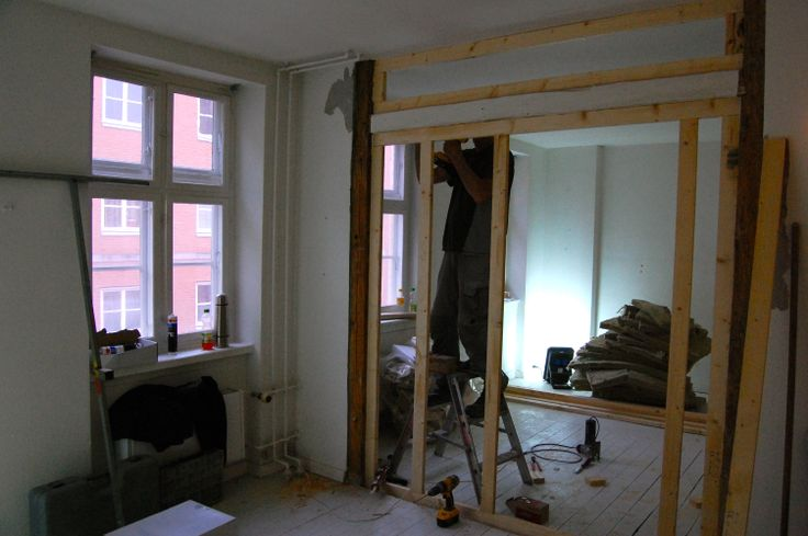 Week 1 - A hole in the wall! The partition between me and Sandra's room in starting to look like something...