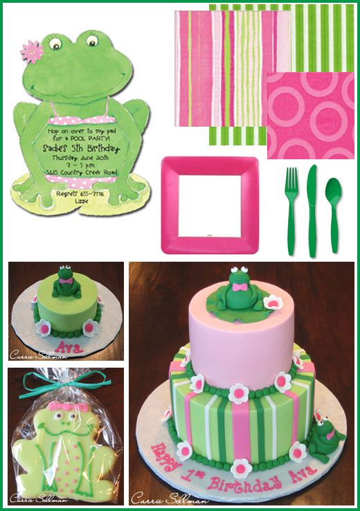 Deco Sapa Pepa: Girly Frogs, Frogs Cakes, Girls Frogs Birthday, Birthday Parties Ideas Barbara, Birthday Theme, 1St Birthday, Frogs Theme Birthday Parties, Frogs Birthday Parties Ideas, Birthday Ideas