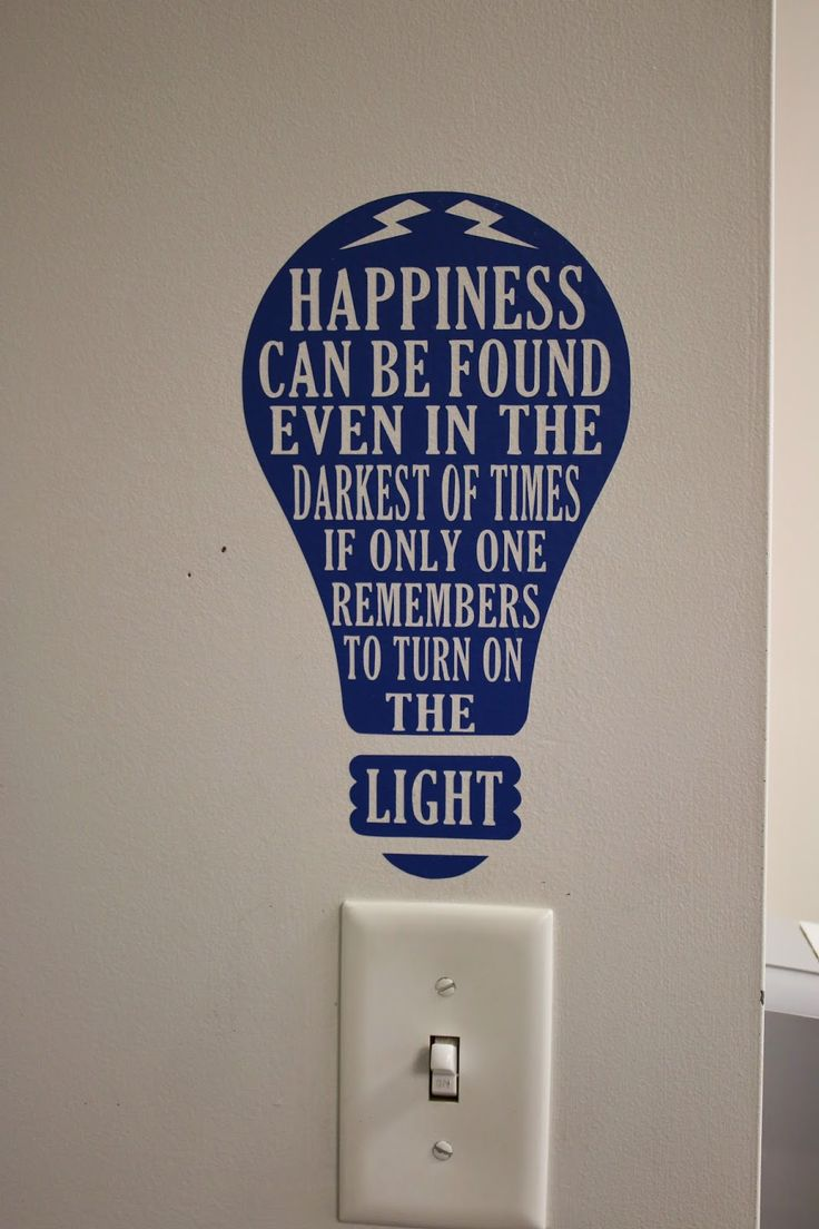 Using Silhouette in the classroom. Harry Potter quote at the light switch. JK Rowling would be proud.