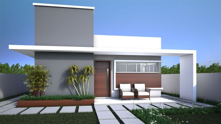 Casas com platibanda terrea pesquisa google casas - Casas unifamiliares modernas ...