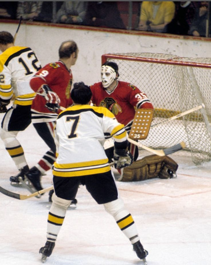 The Esposito Bros' Phil(#7 Boston),Tony(#35 Chicago) in '71