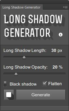 Long Shadow Generator for Photoshop - A PS extension to create long shadow with one click!