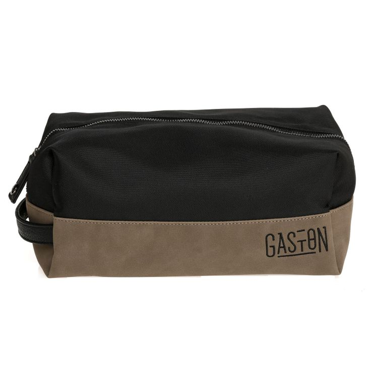 Trousse Marcel, Noir/Marron #ridegaston #gaston #toiletkit #toiletbag #brown #black www.ridegaston.com