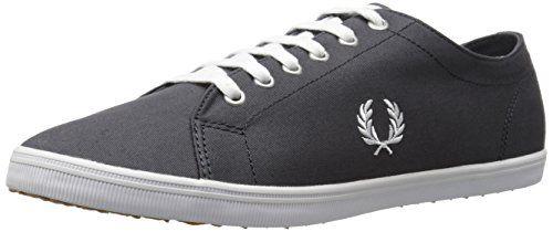 Fred Perry Kingston Twill Charcoal B6259U491, Herren Sneaker, Grau, 39 EU - http://on-line-kaufen.de/fred-perry/39-eu-fred-perry-kingston-twill-charcoal-herren