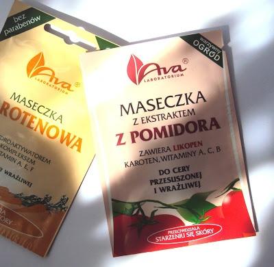 Kolejna maseczka na twarz - tym razem taka, która przeciwdziała starzeniu się skóry. Maseczka Laboratorium AVA z ekstraktem z pomidora, karotenem oraz witaminami A, C, B jest polecana jest dla cery przesuszonej i wrażliwej. Takiej jak moja....