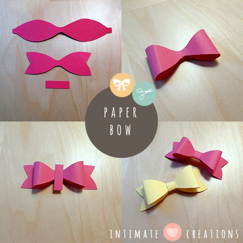 INTIMATE CREATIONS: DIY paper bows