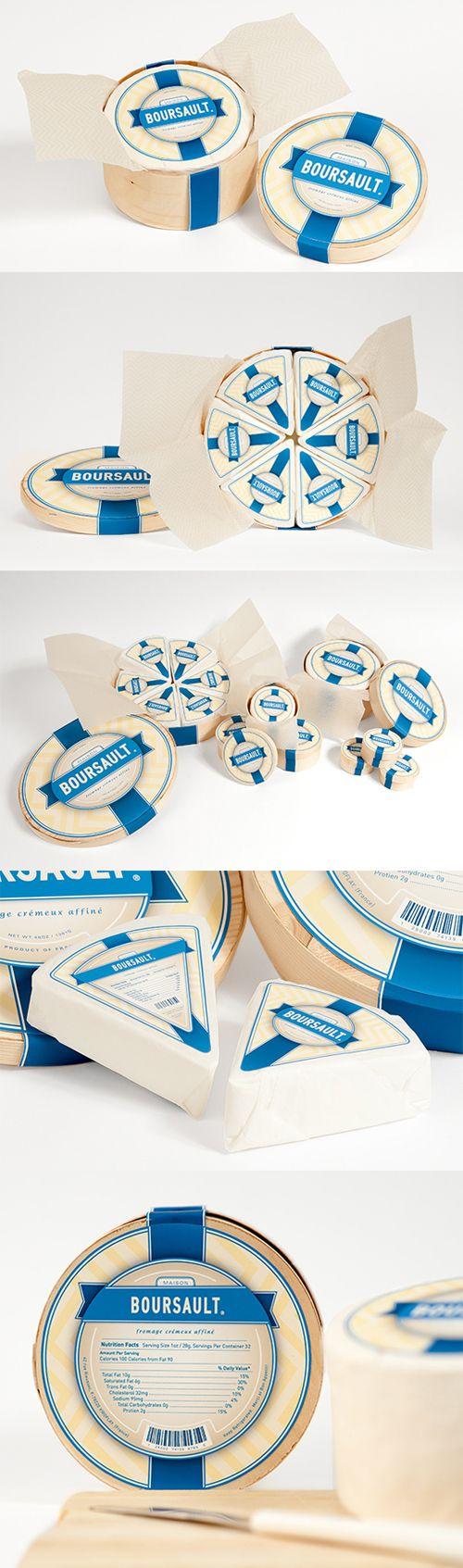 BOURSAULT cheese packaging designed by Samantha Szakolczay